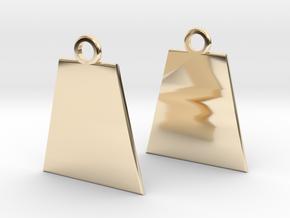 Basis earrings in 14k Gold Plated Brass