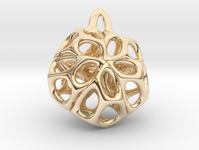 Medaillon 1 in 14k Gold Plated Brass