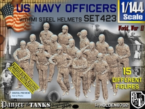 1/144 USN Helmet Officers Set423 in Smooth Fine Detail Plastic