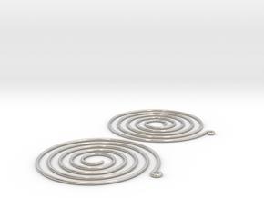 Earrings Spiral 001 in Platinum