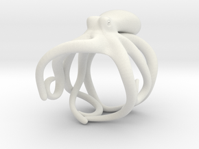 Octopus Ring 21mm in White Premium Strong & Flexible