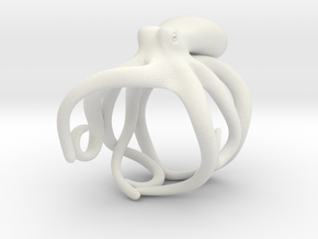 Octopus Ring 20mm in White Premium Versatile Plastic