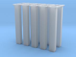 1/64 5000 Grain leg trunking 5pcs in Smooth Fine Detail Plastic