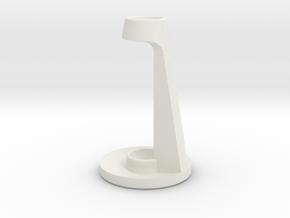 Customizable Toothbrush Holder in White Natural Versatile Plastic