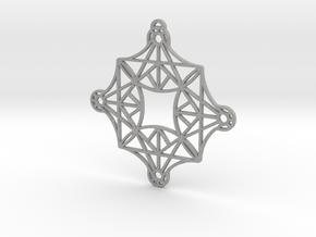 DoodleFan Earring or Pendant (Square) in Aluminum