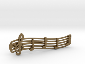 Treble Clef Tie Clip in Natural Bronze