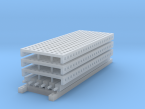 1/64 3 High 10ft Pallet Rack Mesh Extension in Smoothest Fine Detail Plastic