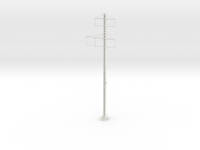 PRR LATICE POLE 2-3 phase Metal in White Natural Versatile Plastic