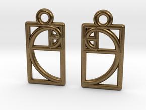 Golden Ratio Earrings in Natural Bronze