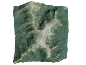 "Mount Washington Map: 6"" in Glossy Full Color Sandstone"