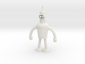 Bender Robot in White Natural Versatile Plastic