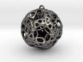 Chrismas ball in Polished Nickel Steel