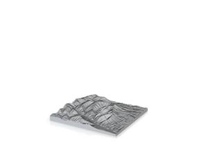 Model of Cross Mountain in Natural Sandstone