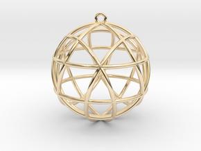 "Star Tetrasphere Pendant 1.7""  in 14k Gold Plated Brass"