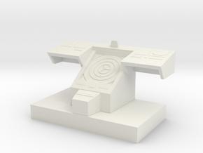 Bridge Console 32mm Scale in White Natural Versatile Plastic