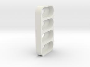 4 x 1 Amazon Dash Button Adapter in White Natural Versatile Plastic