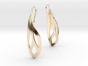 Flos earrings in 14k Gold Plated Brass