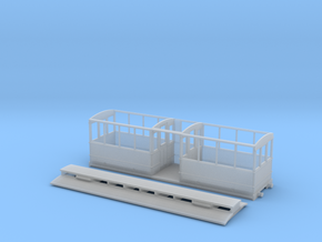 5.5mm Corris Rly clerestory saloon in Smooth Fine Detail Plastic