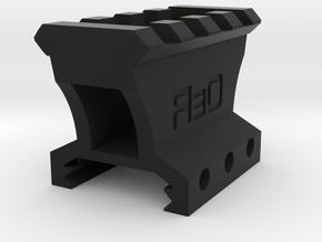 "1"" High 3 to 4 Slots Picatinny Riser (Centered) in Black Natural Versatile Plastic"