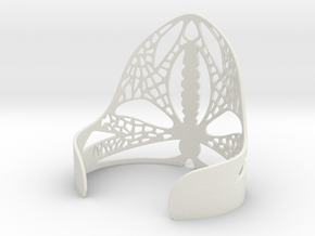 Dragonfly Cuff in White Natural Versatile Plastic