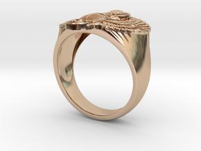 Winged scarab ring  in 14k Rose Gold: 9 / 59