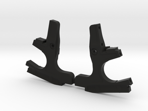 3DRC DEX410 FRONT BULKHEAD SET-001 in Black Strong & Flexible