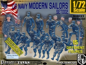 1/72 USN Modern Sailors Set002 in Smooth Fine Detail Plastic