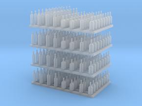 1:48 Liquor Bottles V3 - 256ea in Smooth Fine Detail Plastic
