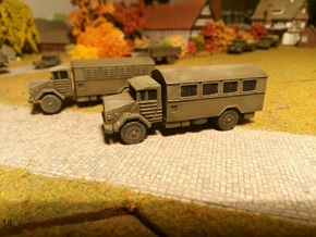 German MAN 630 Van-Body 5to Truck 1/144 in Smooth Fine Detail Plastic
