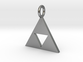 Zelda triforce in Natural Silver