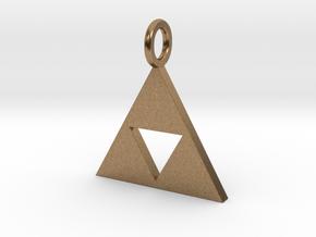 Zelda triforce in Natural Brass