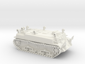 Japanese Soko Sagyo Ki - Pioneer Tank WWII 1/100 in White Natural Versatile Plastic