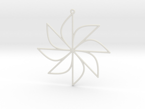 Sine Ornament in White Natural Versatile Plastic