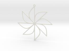 Sine Ornament in White Natural Versatile Plastic