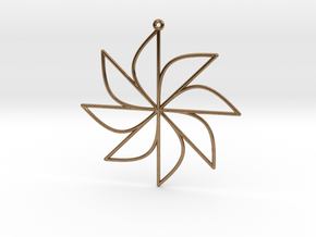 Sine Ornament in Natural Brass