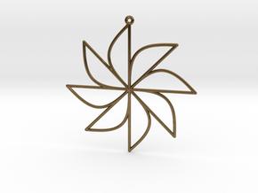 Sine Ornament in Natural Bronze