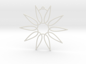 Secant Ornament in White Natural Versatile Plastic