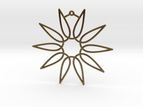 Secant Ornament in Natural Bronze