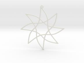 Cotangent Ornament in White Natural Versatile Plastic