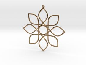 Cosine Ornament in Natural Brass