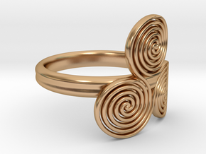 """Celtic """"life and death"""" triple spiral ring in Polished Bronze"""