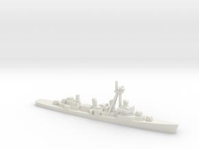 Fletcher-class destroyer Z1/Z3, 1/1800 in White Natural Versatile Plastic