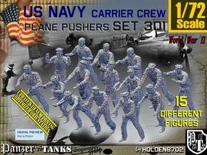 1/72 USN Carrier Deck Pushers Set301 in Smooth Fine Detail Plastic