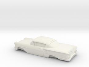 1/32 1958  Chevrolet Impala Coupe in White Natural Versatile Plastic