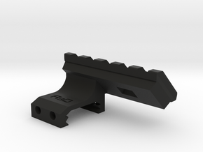45 Degrees 2 Slots to 5 Slots Picatinny Rail (Offs in Black Natural Versatile Plastic