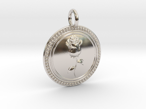 NewCompassionRose in Rhodium Plated Brass