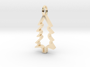Christmas Tree - Pendant in 14K Yellow Gold