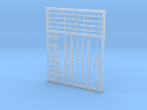 1/64 Long and short 3 point hitches- Fine detail in Smooth Fine Detail Plastic