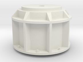 1 zu 24 Quad Flak Pedestal 20171129 in White Natural Versatile Plastic