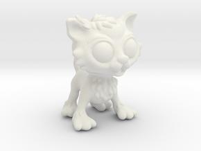Cute_Cat in White Natural Versatile Plastic